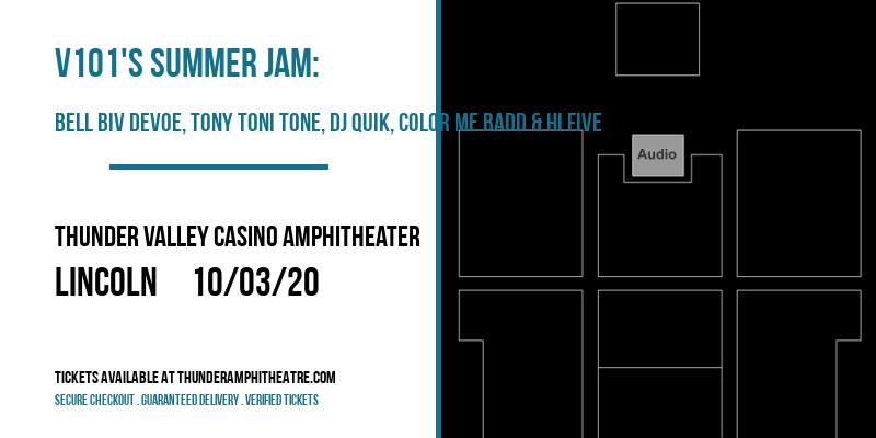 V101's Summer Jam: Bell Biv Devoe, Tony Toni Tone, DJ Quik, Color Me Badd & Hi Five at Thunder Valley Casino Amphitheater