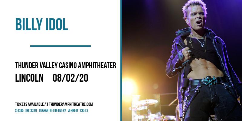 Billy Idol at Thunder Valley Casino Amphitheater